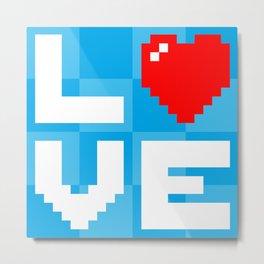 Pixel Love Metal Print