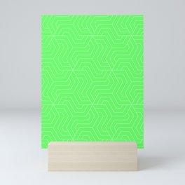 Screamin' Green - green - Modern Vector Seamless Pattern Mini Art Print