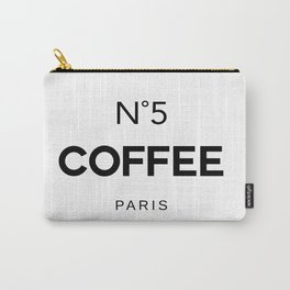 Number 5 Coffee In Paris, Eau De Vie, Water Of Life Quote, Cafe Label Quotes, Large Printable Photo Carry-All Pouch