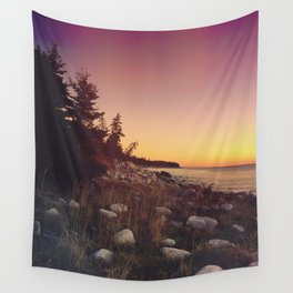 Sunset By the Sea Wall Tapestry