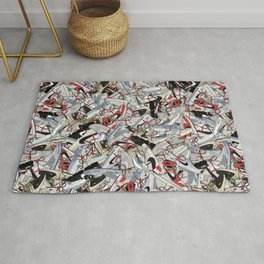 """Off-White """"The Ten"""" Sneaker Collage Print Rug"""