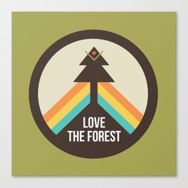 For the Love of the Forest Canvas Print