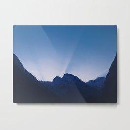 Cold Mountain Sunrays Metal Print