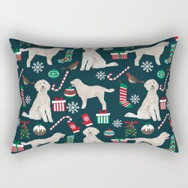 Golden Doodle unique christmas gifts for dog person dog breed pet portraits by pet friendly Rectangular Pillow