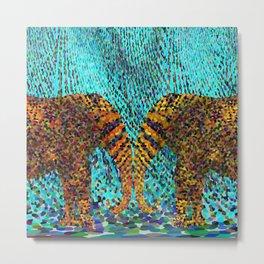 Carnival Elephants Metal Print