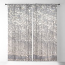 Water Reflections Photography Sheer Curtain