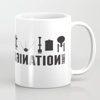 millenium falcon Mugs featuring Beyond imagination: Millenium Falcon postage stamp  by Chungkong