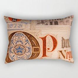 Historic Document  Antique Certificate Vintage Rectangular Pillow