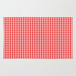 Mini Australian Flag Red Gingham Check Plaid Rug