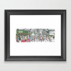 Davis Farmer's Market panorama Framed Art Print