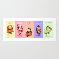 1d Art Prints featuring 1d Desserts!  by justsomestuff