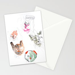 Crazy Cats 2 Stationery Cards