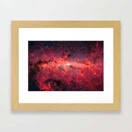 Don't Be Afraid To Reach For The Stars, Galaxy Background, Universe Large Print, Space Wall Art Framed Art Print