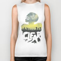 clear Biker Tanks featuring CLEAR by Kidney Theft
