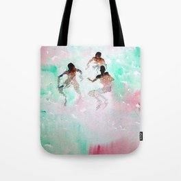 African American Boys, The Summer Swimming Hole portrait by Fred Soldwedel Tote Bag