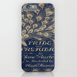 Pride and Prejudice, Peacock; Vintage Book Cover iPhone Case
