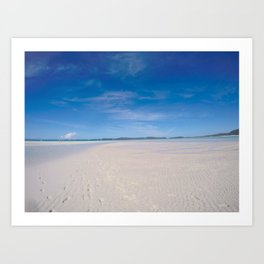 Whitehaven beach Art Print