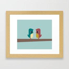 Tweet Heart Framed Art Print