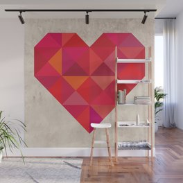 Heart geometry Wall Mural