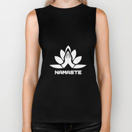Namaste Yoga Teacher Meditation Yoga Yogi Gift Biker Tank
