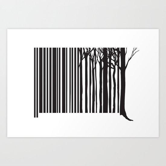 Treecode Art Print
