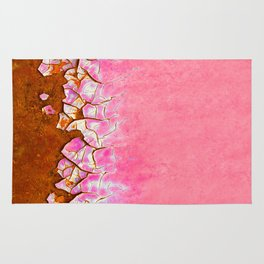Pink and Rust Rug