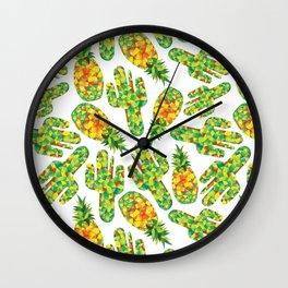 Cactus & Pineapple Wall Clock