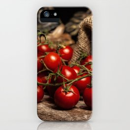 Red cherry tomatoes iPhone Case