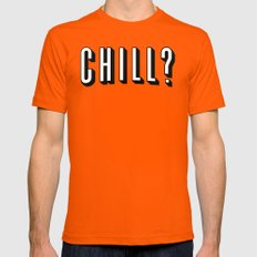 Chill Out Mens Fitted Tee Orange SMALL