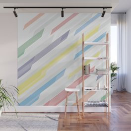 Tech geometric colorful lines background #society6 #decor #buyart #artprint Wall Mural