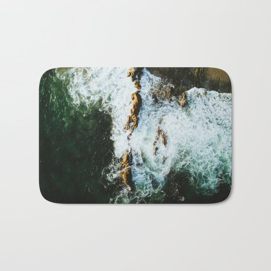 OCEAN - SEA - WATER - ROCKS - PHOTOGRAPHY Bath Mat