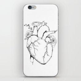 Black and White Anatomical Heart iPhone Skin