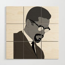 Malcolm X. By Any Means. Poster. Print. Case Wood Wall Art