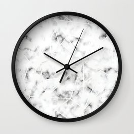 Clean Marble Mosaic with White Accent Lines Wall Clock