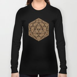 D20 Henna Icosahedron Long Sleeve T-shirt
