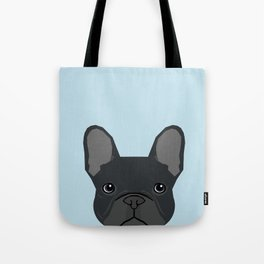 Frenchie art - french bulldog dog art dog portrait cute black french bulldog Tote Bag