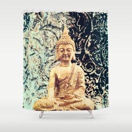 Earth Zen Buddha Shower Curtain