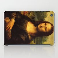 mona lisa iPad Cases featuring Mona Lisa by Elegant Chaos Gallery