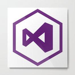 visual studio logo sticker C# developers Metal Print