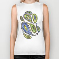 paisley Biker Tanks featuring Paisley by Laura Maxwell