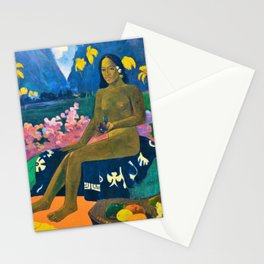 Paul Gauguin - The Seed Of The Areoi - Digital Remastered Edition Stationery Cards