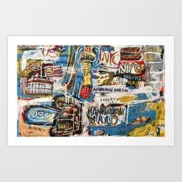 Manhattan World Art Print
