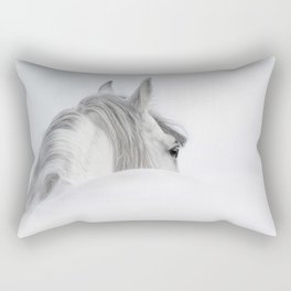 Gray Andalusian stallion Rectangular Pillow