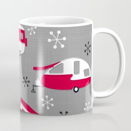 Red Campers on Charcoal Coffee Mug