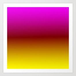 Sunset Ombre Art Print