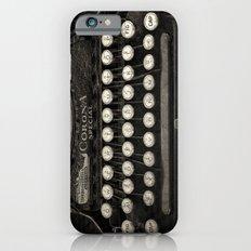 Old Typewriter Keyboard Slim Case iPhone 6s