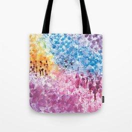 Abstract Landscape Illustration Tote Bag