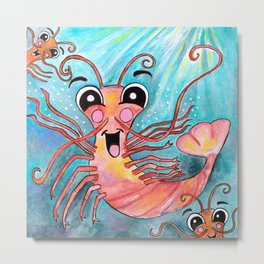 K is for Krill Metal Print