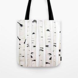 birch horizontal Tote Bag