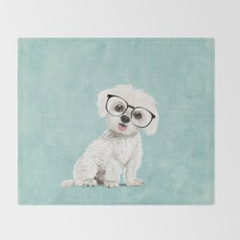 Mr Maltese Throw Blanket
